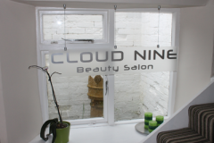 Cloud Nine Waiting Area Sign
